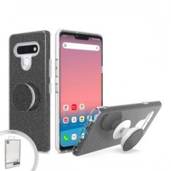 BLING CASE WITH POP UP FOR LG STYLO 6 BLACK