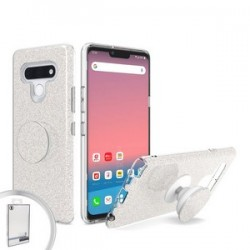 BLING CASE WITH POP UP FOR LG STYLO 6 SILVER