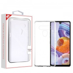 Mybat Sturdy Gummy Cover for LG STYLO 6 - Highly Transparent Clear/Transparent Clear