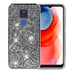 Deluxe Diamond Bling Glitter Case For Motorola Moto G Play 2021 - Black