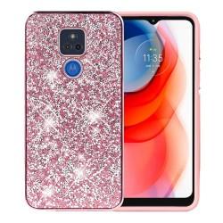 Deluxe Diamond Bling Glitter Case For Motorola Moto G Play 2021 - Pink