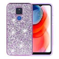 Deluxe Diamond Bling Glitter Case For Motorola Moto G Play 2021 - Purple