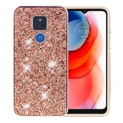 Deluxe Diamond Bling Glitter Case For Motorola Moto G Play 2021 - Rose Gold