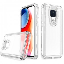 Premium Strong 3 IN 1 Case for Motorola G Play 2021 - Clear