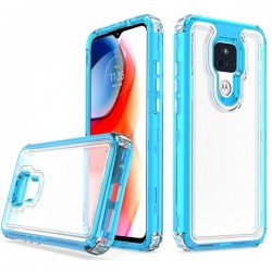 Premium Strong 3 IN 1 Case for Motorola G Play 2021 - Blue