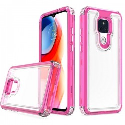 Premium Strong 3 IN 1 Case for Motorola G Play 2021 - Pink