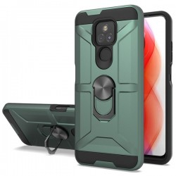 New Matte Design Brush Case with Ring Stand Case for Motorola G Play 2021 - Army Green