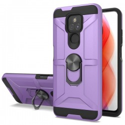 New Matte Design Brush Case with Ring Stand Case for Motorola G Play 2021 - Purple