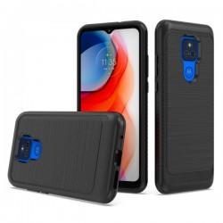 Brushed Metallic Case for Motorola G Play 2021 - Black
