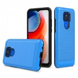 Brushed Metallic Case for Motorola G Play 2021 - Blue