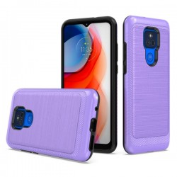 Brushed Metallic Case for Motorola G Play 2021 - Purple