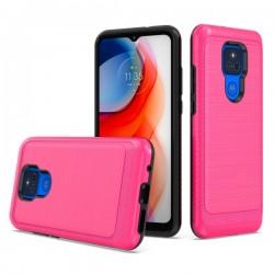 Brushed Metallic Case for Motorola G Play 2021 - Hot Pink