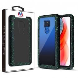 MyBat Splash Hybrid Case for Motorola Moto G Play (2021) - Highly Transparent Clear / Black