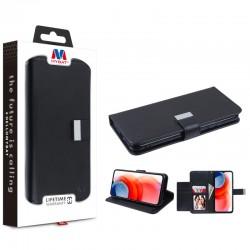 MyBat MyJacket Wallet Xtra Series for Motorola Moto G Play (2021) - Black / Black