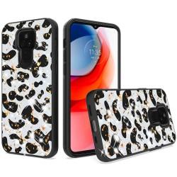 Glitter Printed Design Hybrid Case For Motorola Moto G Play 2021 - Cow