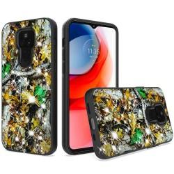 Glitter Printed Design Hybrid Case For Motorola Moto G Play 2021 - Hunter Forest