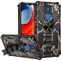 Machine Design Magnetic Kickstand Case For Motorola Moto G Play 2021 - Camo Army