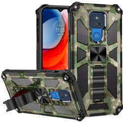 Machine Design Magnetic Kickstand Case For Motorola Moto G Play 2021 - Camo Green