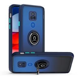 Magnetic RingStand Case For Motorola Moto G Play 2021 - Blue