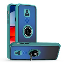 Magnetic RingStand Case For Motorola Moto G Play 2021 - Teal
