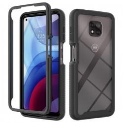 360 Full Body Armor Slim Case for Motorola Moto G Power 2021 - Black