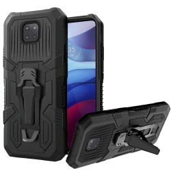 Travel Kickstand Clip Hybrid Case for Motorola Moto G Power 2021 - Black
