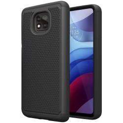 Rugged Tuff Shockproof Hybrid Case for Motorola Moto G Power 2021 - BKBK