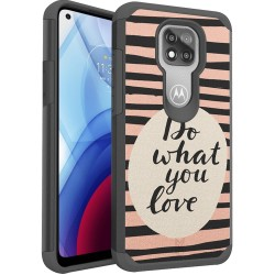 For Moto G Power 2021 MetKase Fashion Design ShockProof Case Cover - Do What You Love