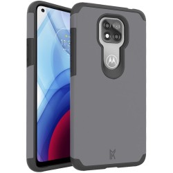 For Moto G Power 2021 MetKase Original ShockProof Case Cover - Charcoal Grey