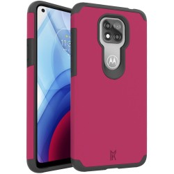For Moto G Power 2021 MetKase Original ShockProof Case Cover - Virtual Pink