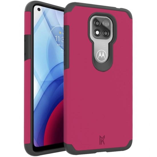 For Moto G Power 2021 MetKase Original ShockProof Case Cover - Virtual Pink
