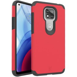 For Moto G Power 2021 MetKase Original ShockProof Case Cover - Flame Scarlet