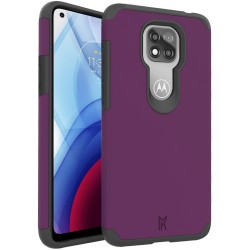 For Moto G Power 2021 MetKase Original ShockProof Case Cover - Magenta Purple