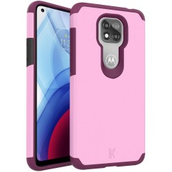 For Moto G Power 2021 MetKase Original ShockProof Case Cover - Fruity Wine