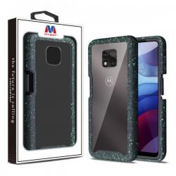 MyBat Splash Hybrid Case for Motorola Moto G Power (2021) - Highly Transparent Clear / Black