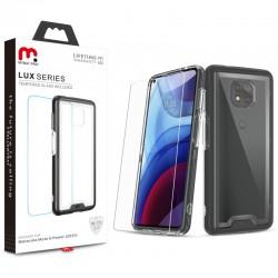 MyBat Pro Lux Series Case with Tempered Glass for Motorola Moto G Power (2021) - Black