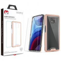 MyBat Pro Lux Series Case with Tempered Glass for Motorola Moto G Power (2021) - Rose Gold