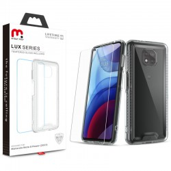 MyBat Pro Lux Series Case with Tempered Glass for Motorola Moto G Power (2021) - Clear
