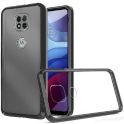 Clear Transparent Hybrid Case for Motorola Moto G Power 2021 - Clear PC + Black TPU