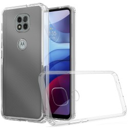 Clear Transparent Hybrid Case for Motorola Moto G Power 2021 - Clear PC + Clear TPU