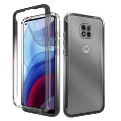 Two Tone Transparent Shockproof Case for Motorola Moto G Power 2021 - Smoke