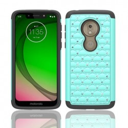 Hybrid Dazzling, Black/Teal For Motorola G7play