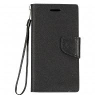 Demin Fabric Wallet for Motorola moto g7 power
