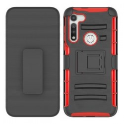 Holster Combo for Moto G Fast - Black/Red