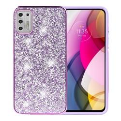 Deluxe Diamond Bling Glitter Case For Moto G Stylus 2021 - Purple