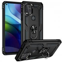 Motorola 5G G Stylus Heavy Duty Ring Stand Cases - Black
