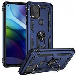 Motorola 5G G Stylus Heavy Duty Ring Stand Cases - Navy