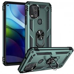 Motorola 5G G Stylus Heavy Duty Ring Stand Cases - Green