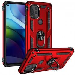 Motorola 5G G Stylus Heavy Duty Ring Stand Cases - Red