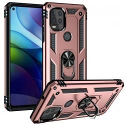 Motorola 5G G Stylus Heavy Duty Ring Stand Cases - Rose Gold